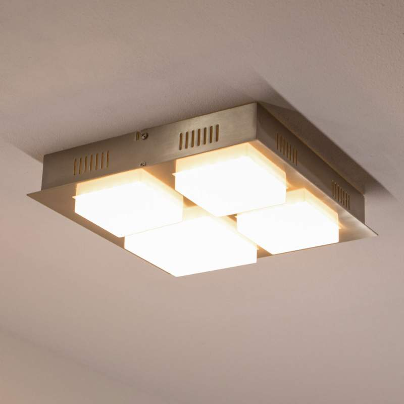 Vierkante LED plafondlamp Leah