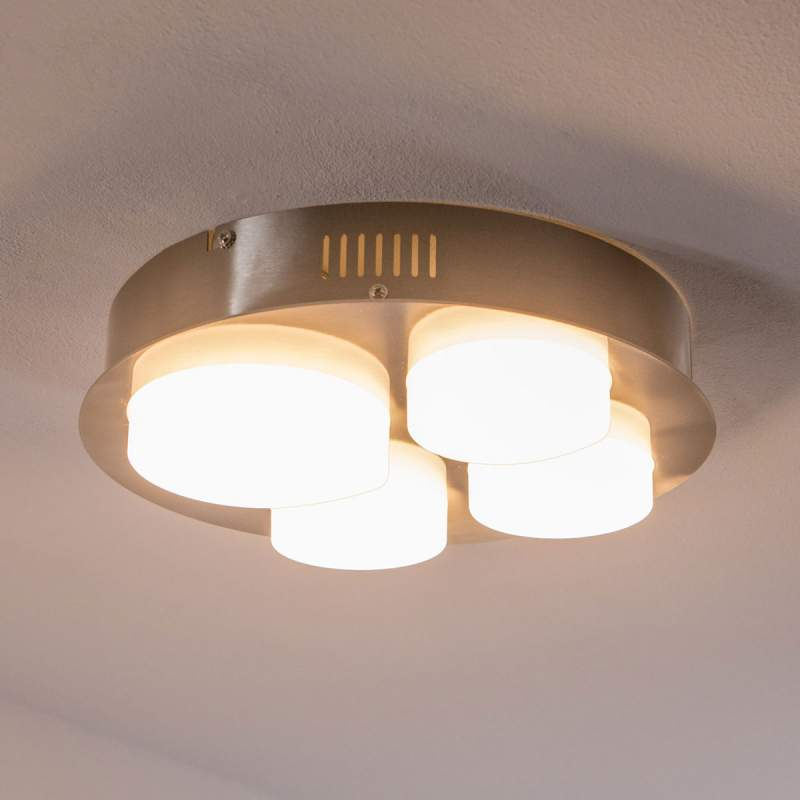 Leah - vierflammige LED plafondlamp, rond