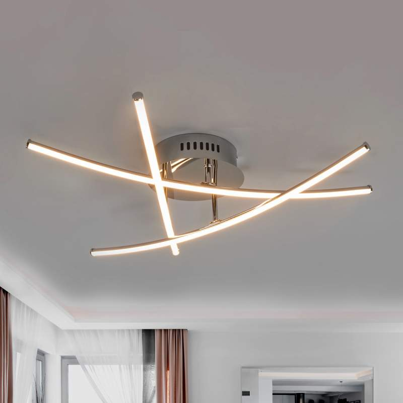 Yael Gekruiste Mooie Plafondlamp Led Staven 8OmvnwN0