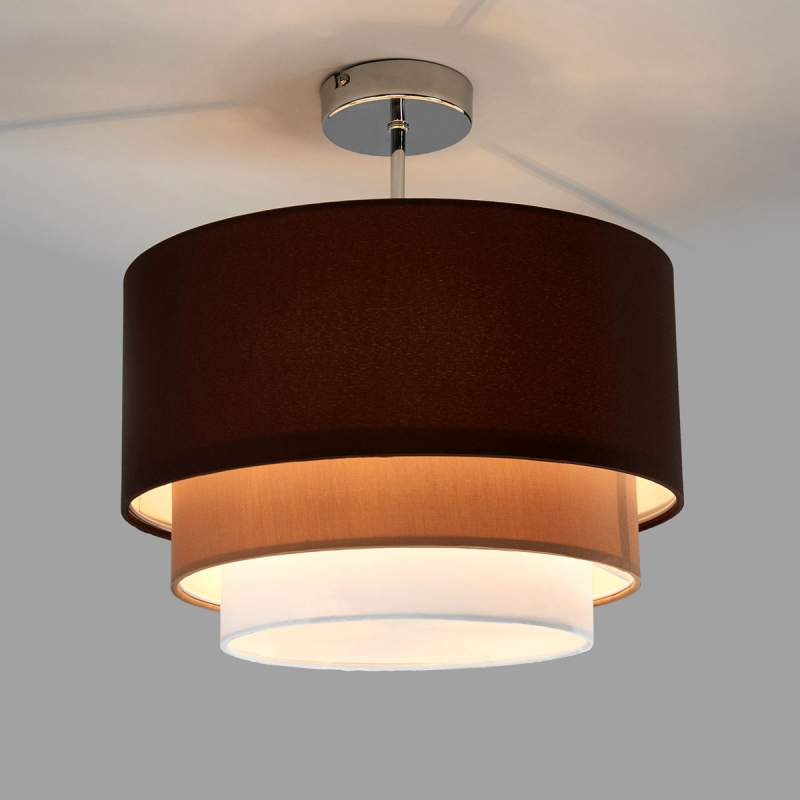Stof in drie lagen - de plafondlamp Jayda