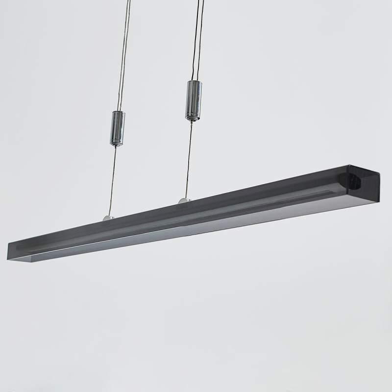 Jethro - langwerpige LED hanglamp in rookgrijs