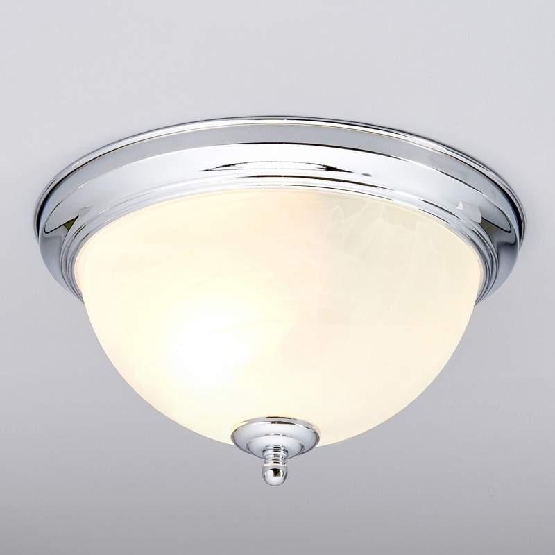 Chroomkleurige badkamer-plafondlamp Corvin