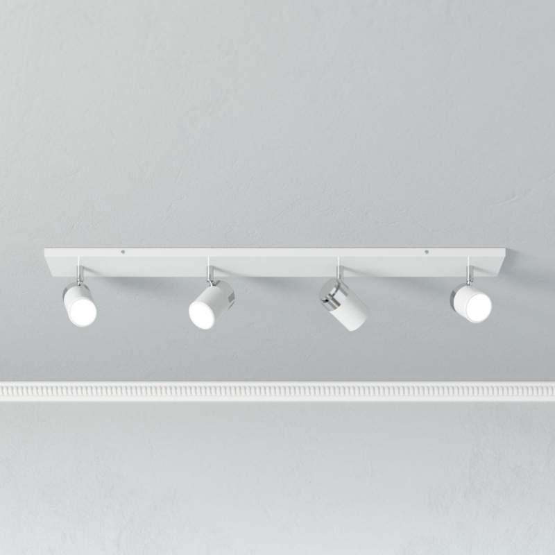 Plafondspot Kardo, IP44 met 4 lampjes