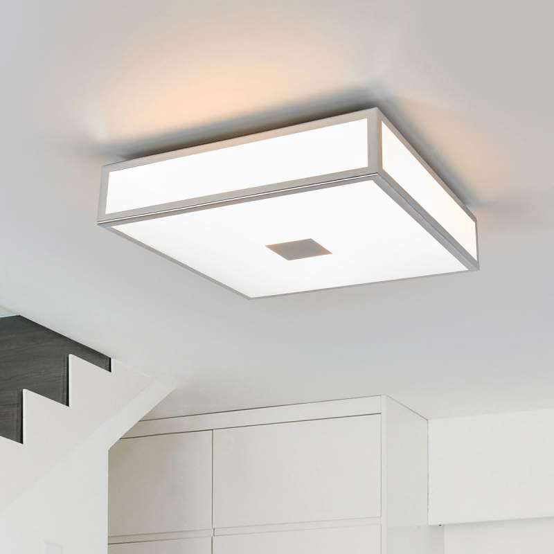 Eniola, vierkante plafondlamp, IP44