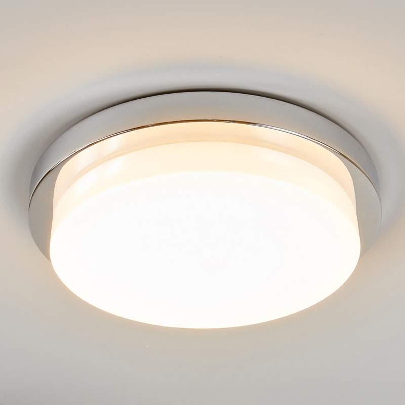 Glanzend chromen LED plafondlamp Cordula, IP44