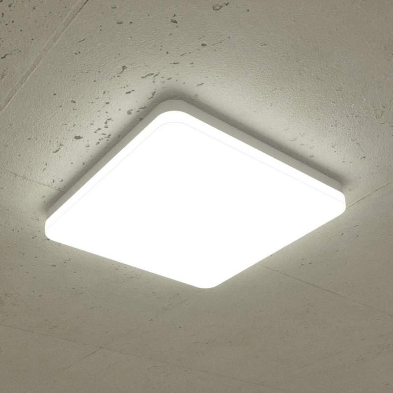 Universeel witte LED plafondlamp Lenne, IP44