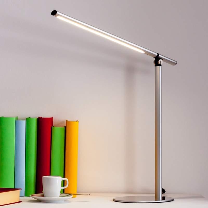 Zeer moderne LED-tafellamp Kolja in zilvergrijs