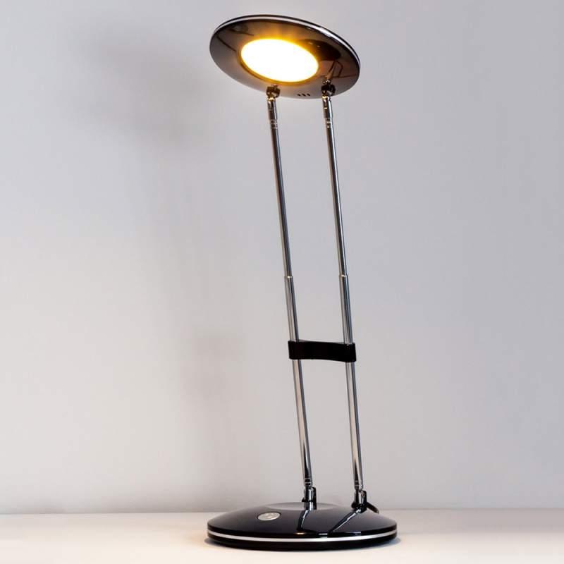 Klassiek-moderne LED-tafellamp Almina, zwart