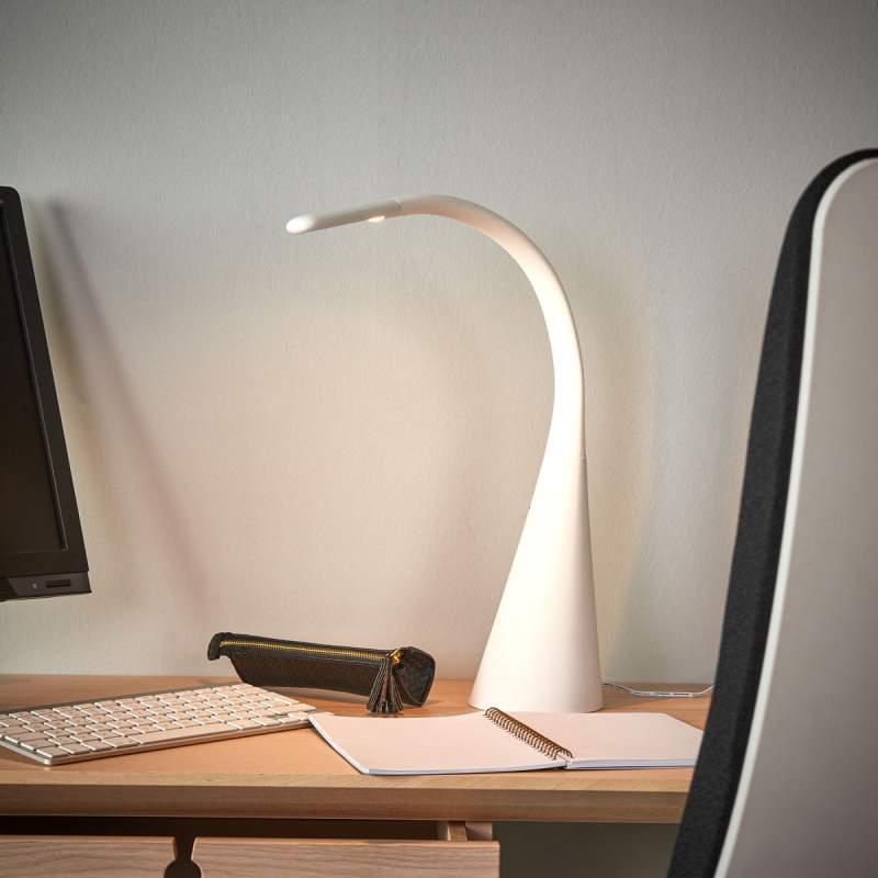 Chique led tafellamp Majani, dimbaar met USB