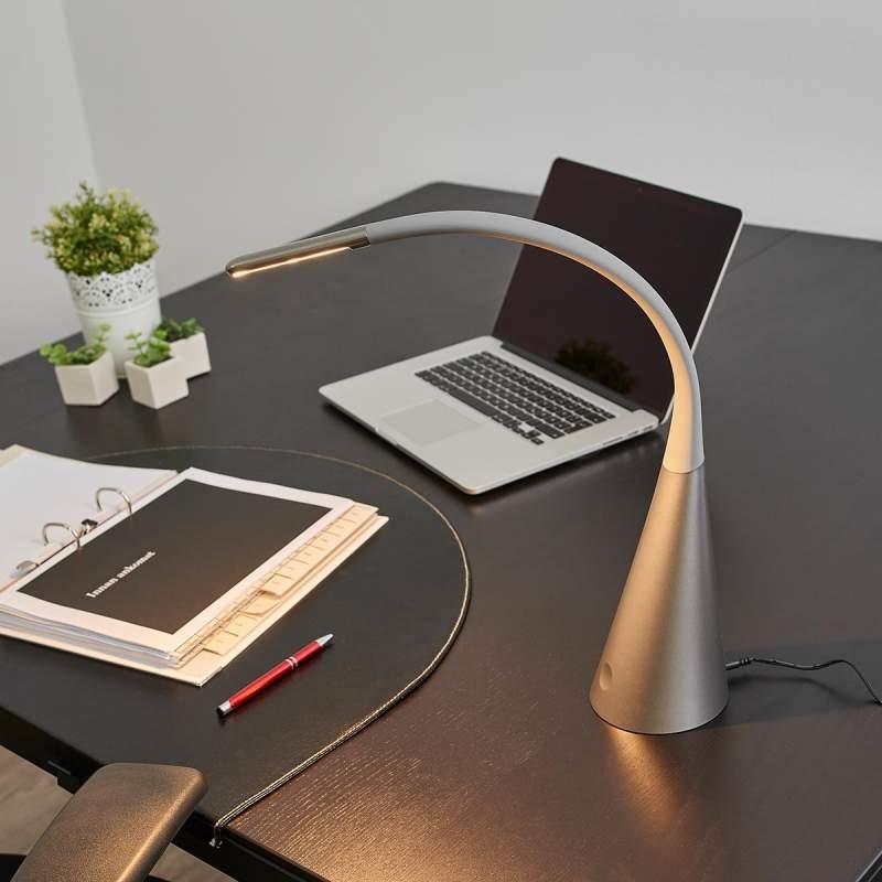 Dimbare led bureaulamp Majani, USB