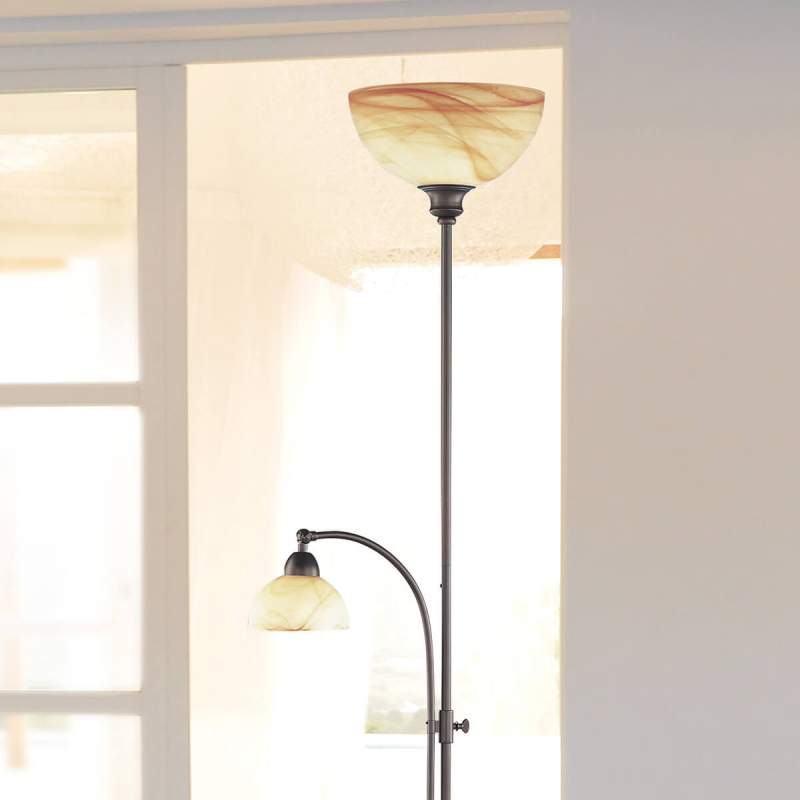 Staande lamp Lacchino met voetdimmer