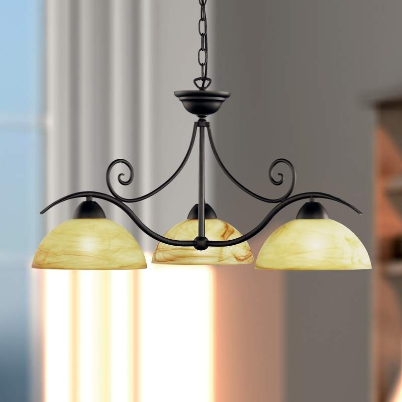 Sfeervolle hanglamp Lacchino, 3-lichts