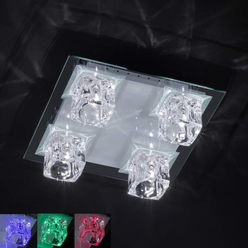 4-lichts LED multicolour-plafondlamp VISION