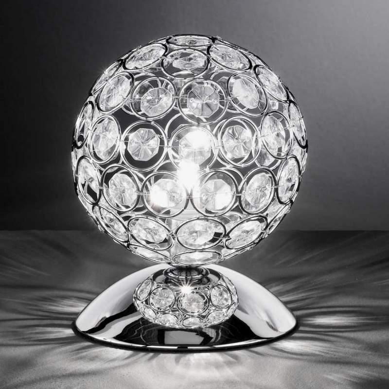 Schitterende tafellamp Holly met glazen stenen