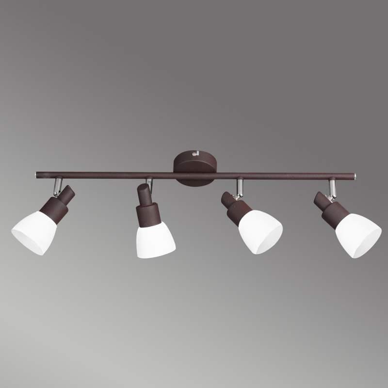 Antiek bruine LED plafondlamp Eve, 4 lichtbronnen