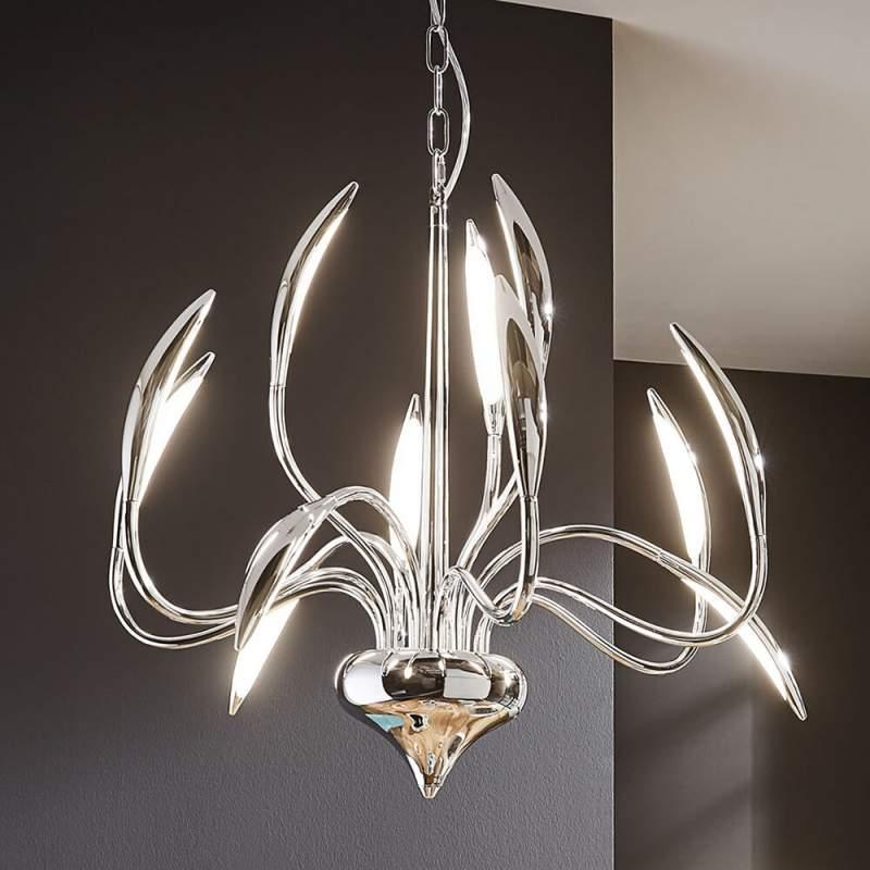 LED pendellamp Hampton met twaalf lichtbronnen