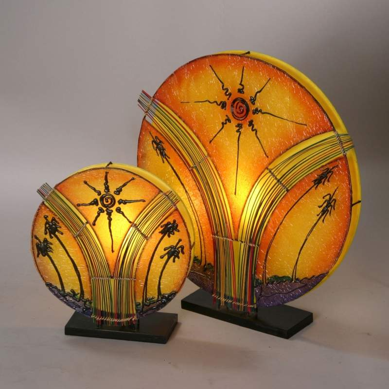 Fantastische tafellamp NAOMI, 35 cm hoog
