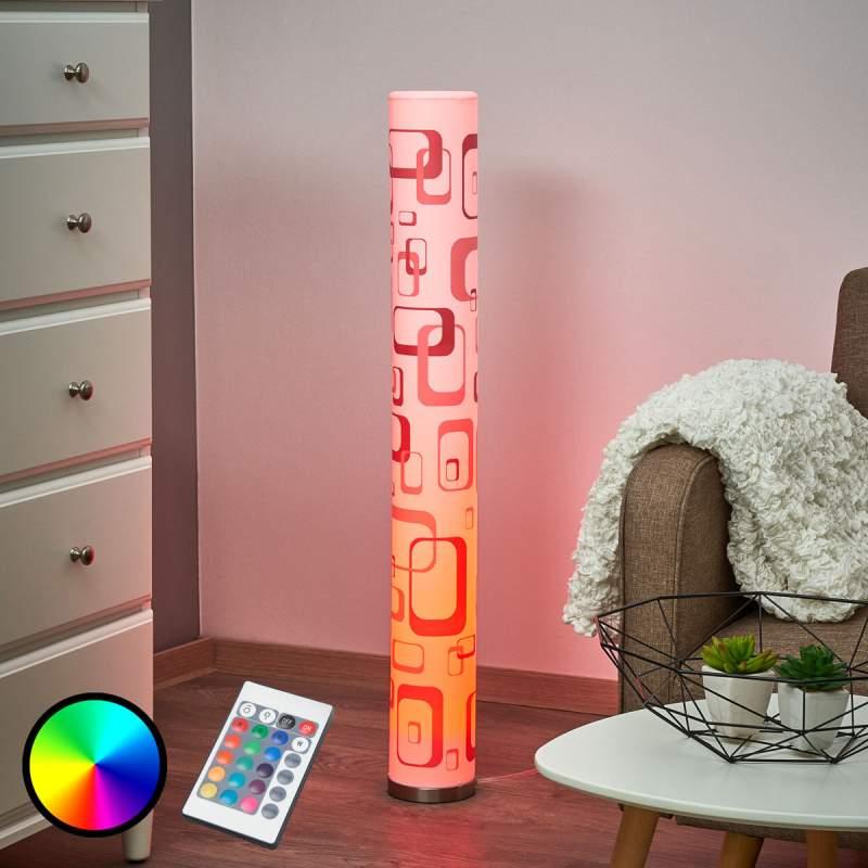Led-vloerlamp Mirella met retro motief, GU10 RGB