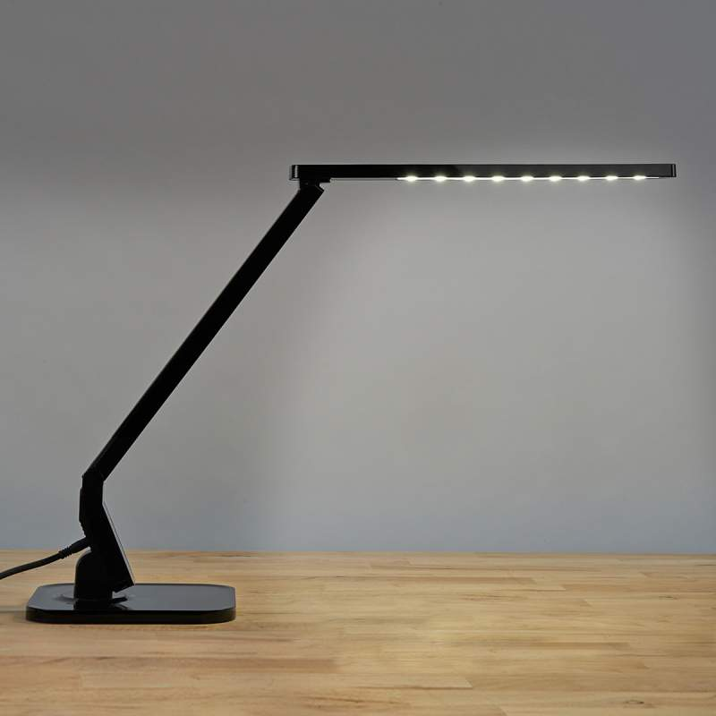 Zwarte LED-bureaulamp Eleni