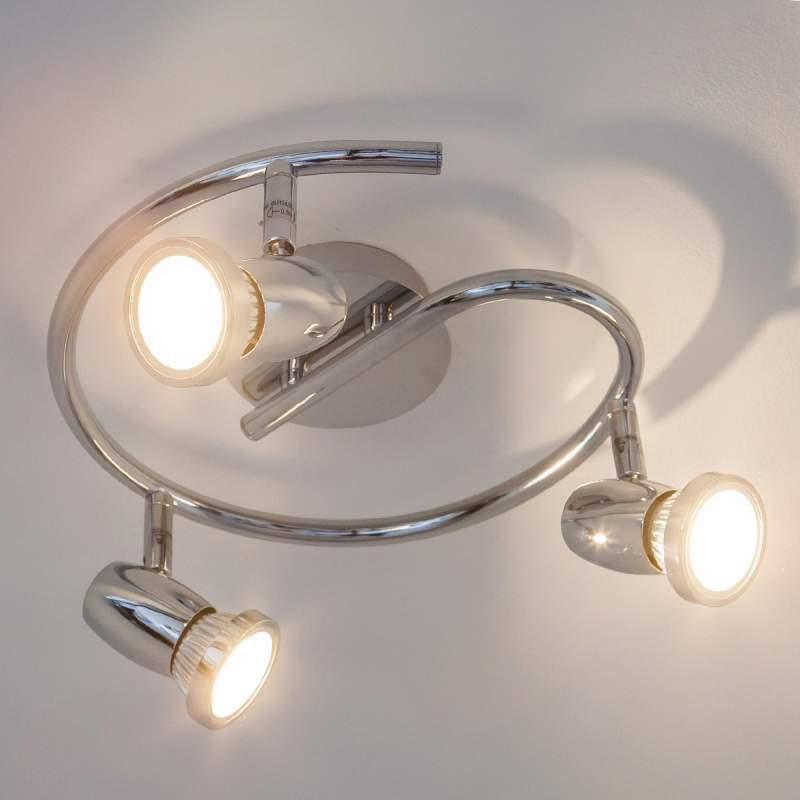 Plafondrondel Arminius met GU10-LED-lampen