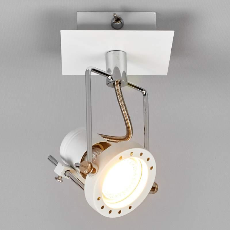 Witte LED-spot Agidio met moderne uitstraling