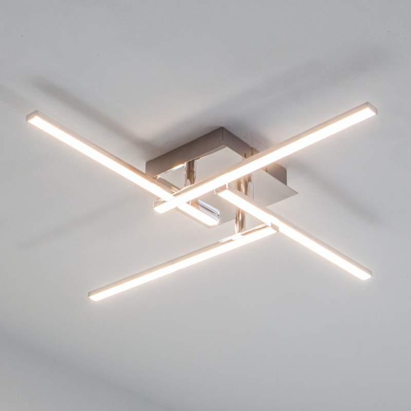 Rechtlijnige LED-plafondlamp Nikan