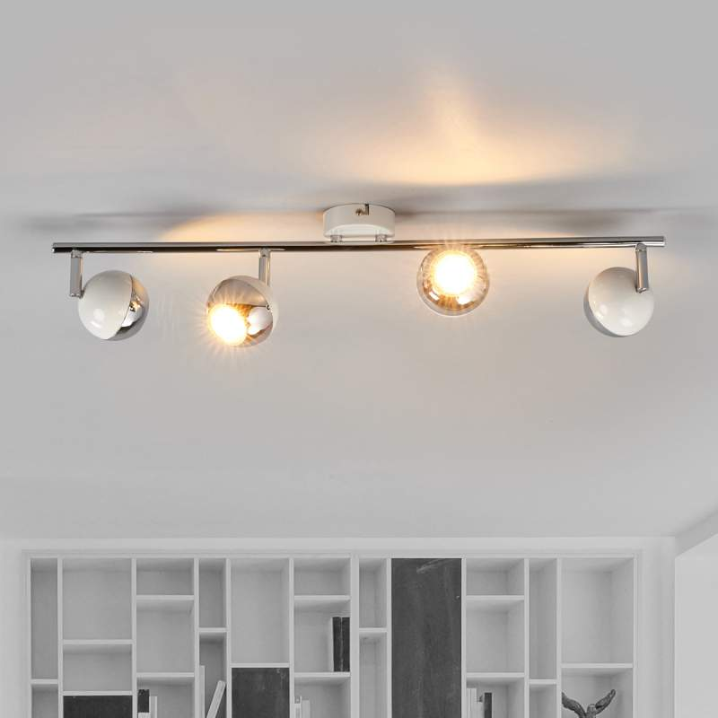 LED plafondstraler Arvin met vier lichtbr. in wit