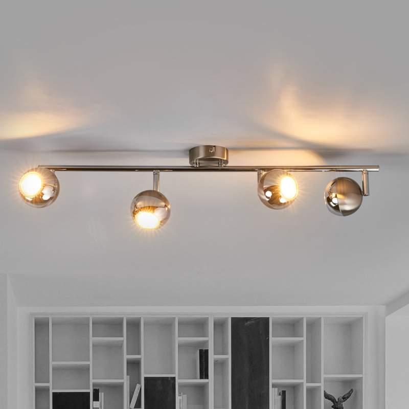 Plafondlamp Arvin in nikkel en chroom, LED
