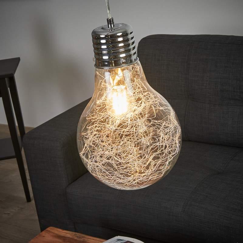 Hanglamp Rubi in de vorm van een gloeilamp