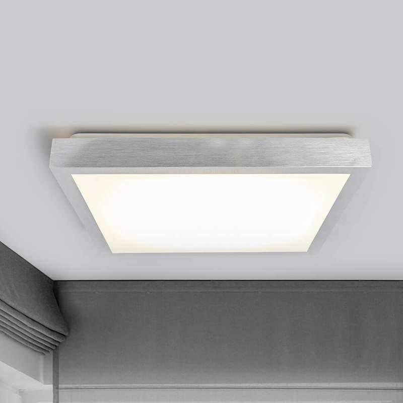 Robito - hoekige LED plafondlamp in aluminium