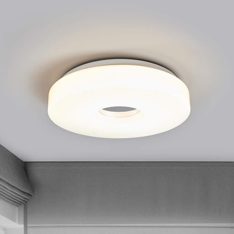 LED plafondlamp Levina met chromen middenstuk