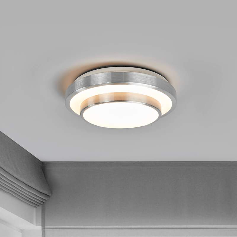 Huberta - ronde LED plafondlamp aluminium frame