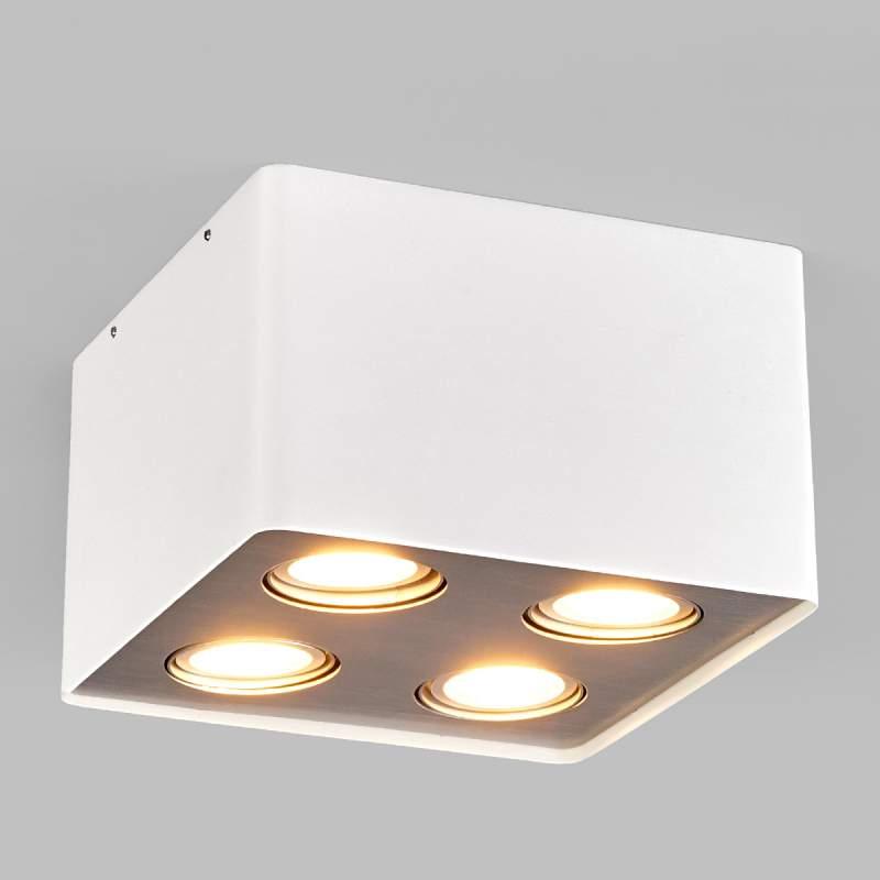 LED-plafondlamp Vince voor de keuken in wit, 4-la.