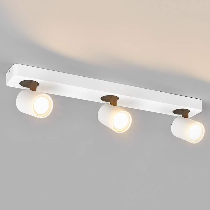 Drielamps LED-spot Sean in wit