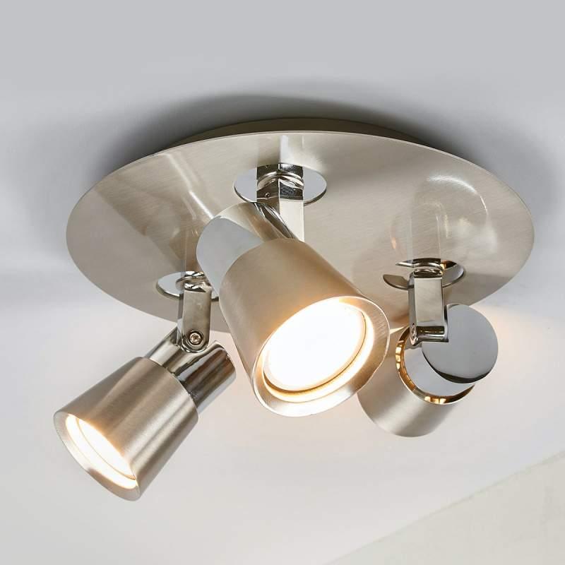 Nikkel gekleurde LED plafondlamp Eleonora