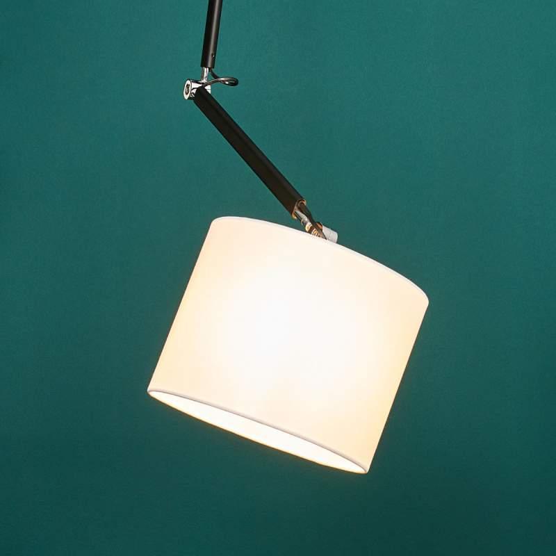 Uittrekbare hanglamp Liv met stoffen kap