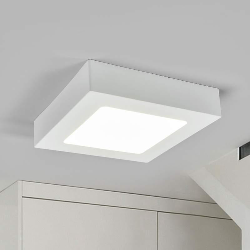 Witte LED badkamer plafondlamp Marlo, IP44
