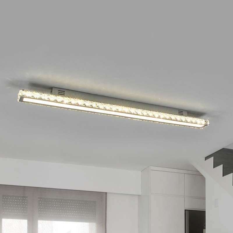 Krachtige kristallen plafondlamp Sesilia met LED