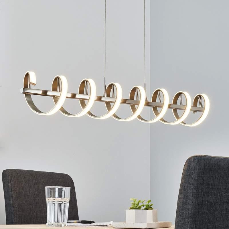 Spiraalvormige LED-balkpendellamp Pierre
