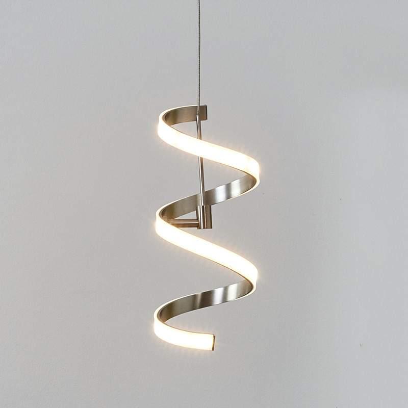 Krulvormige hanglamp Pierre met LED's