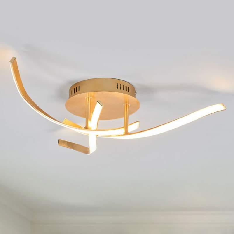 Milane - gouden, heldere LED plafondlamp