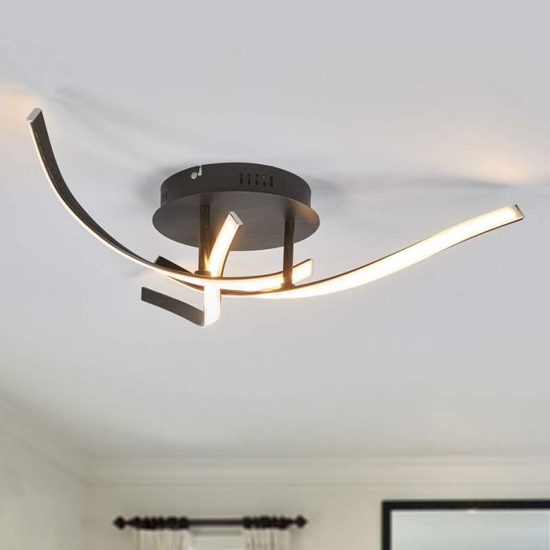 Bruine LED plafondlamp Milane, dimbaar in 3 st.