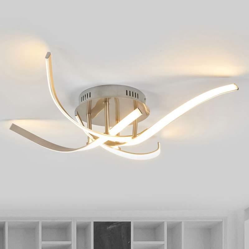 Heldere LED plafondlamp Milane mat nikkel