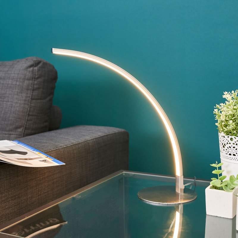 Gebogen LED tafellamp Savio