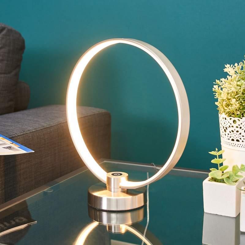 Cirkelvormige LED tafellamp Sidar