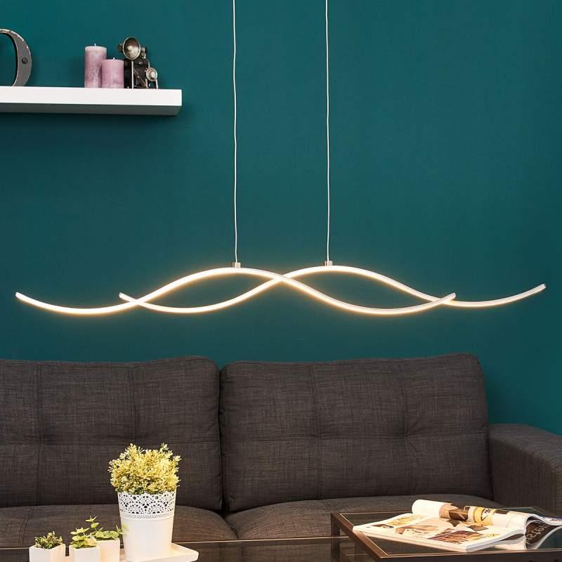 Golfvormige LED hanglamp Safia