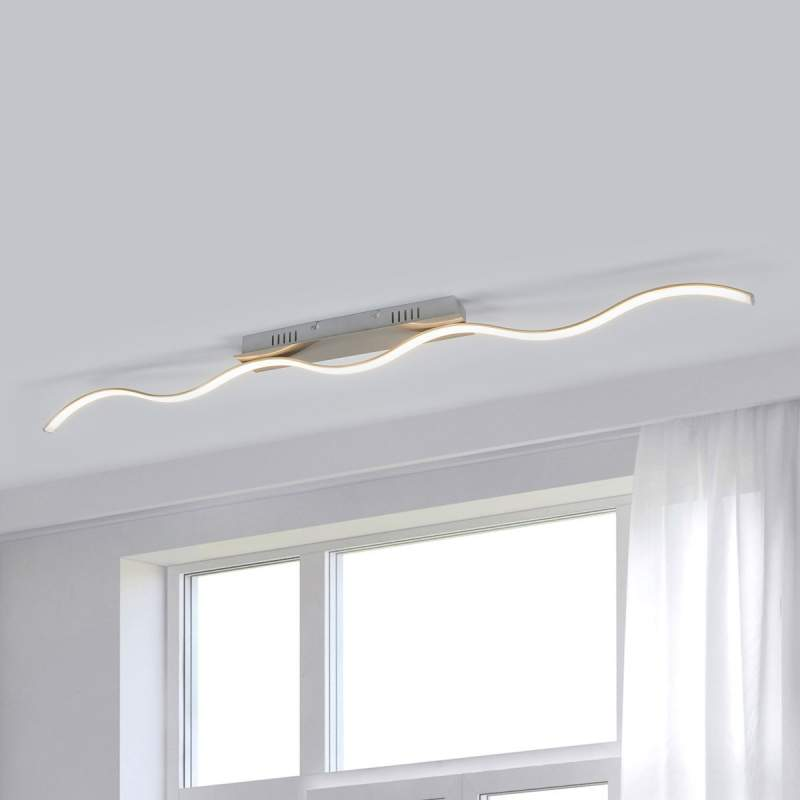 Golfvormige LED plafondlamp Safia