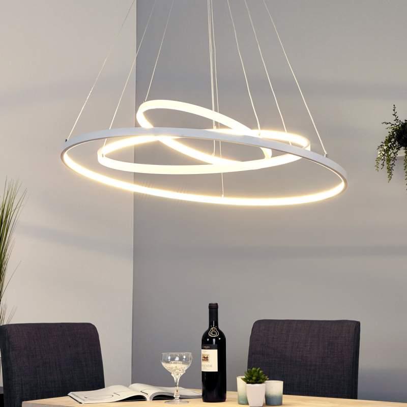 Krachtige LED pendellamp Eline met 3 ringen