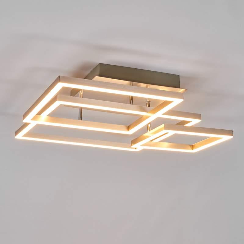 Drie metalen frames - de LED plafondlamp Delian