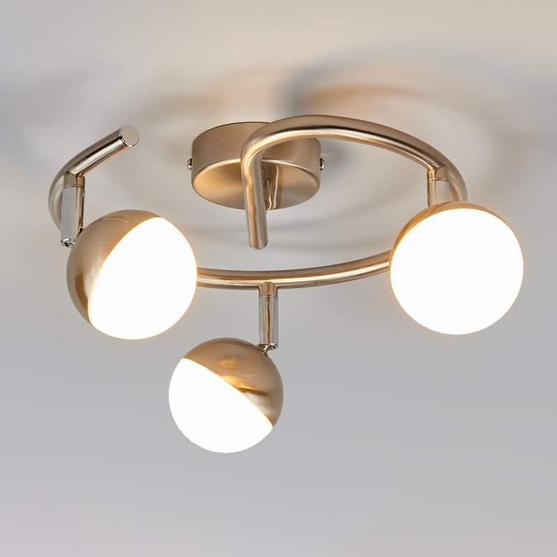 LED plafondrondel Jonne, met drie lichtbronnen